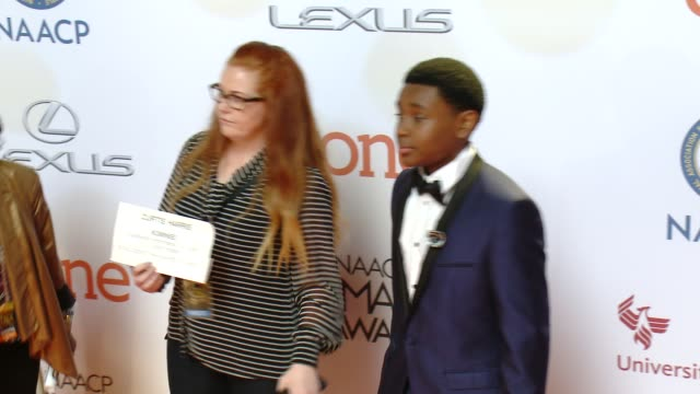 stockvideo's en b-roll-footage met curtis harris at the 46th annual naacp image awards arrivals at pasadena civic auditorium on february 06 2015 in pasadena california - pasadena civic auditorium