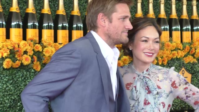 Curtis Stone and Lindsay Price at the sixth annual Veuve Clicquot Polo Classic at Will Rogers Historic State Park in Pacific Palisades at Celebrity...
