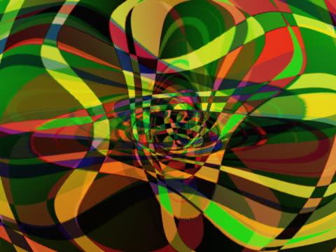 vídeos y material grabado en eventos de stock de curved kaleidoscopic flower shape - artbeats