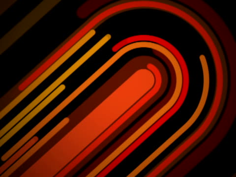 curved yellow, orange and red parallel lines - jukebox stock videos & royalty-free footage