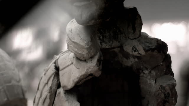 cus damaged soldiers of terracotta army, china - male likeness stock videos & royalty-free footage