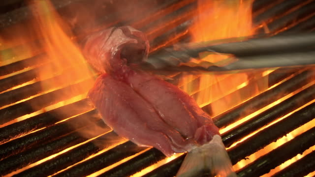 cus fish barbequed on a grill - protein stock videos & royalty-free footage