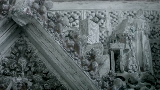 cus intentional damage in ely cathedral - ornate stock videos & royalty-free footage