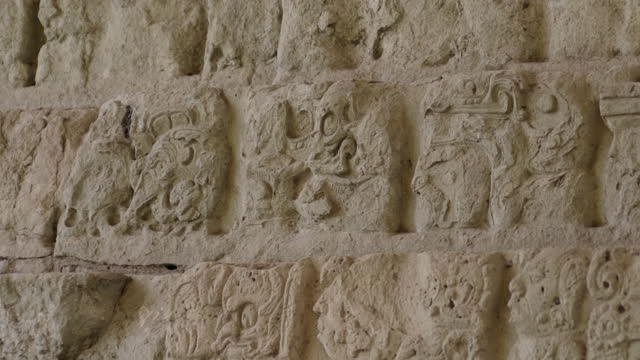cus mayan hieroglyphs, honduras - famous place stock videos & royalty-free footage