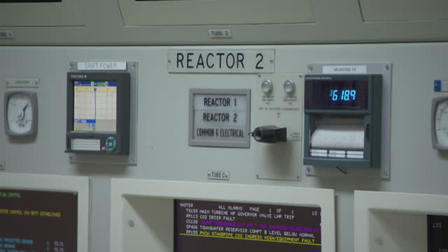 cus nuclear power station control room - gauge stock videos & royalty-free footage