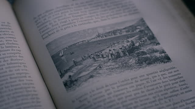 cus old hardback book about the côte d'azur - page stock videos & royalty-free footage