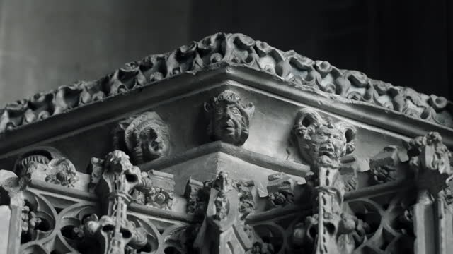 cus ornate stone details of ely cathedral - ornate stock videos & royalty-free footage