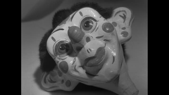 cus painted puppet heads; 1956 - pupazzo video stock e b–roll