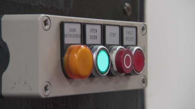 cus person pushes button to open security door - human finger stock videos & royalty-free footage