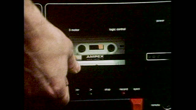 cus recording using cassette tapes; 1983 - western script stock videos & royalty-free footage