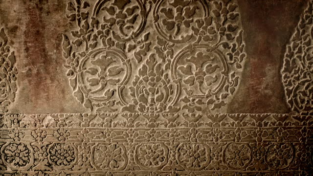 cus relief carvings of angkor wat, cambodia - buddha stock videos & royalty-free footage