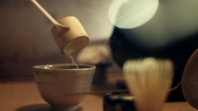 cus tea ceremony, japan - social grace stock videos & royalty-free footage