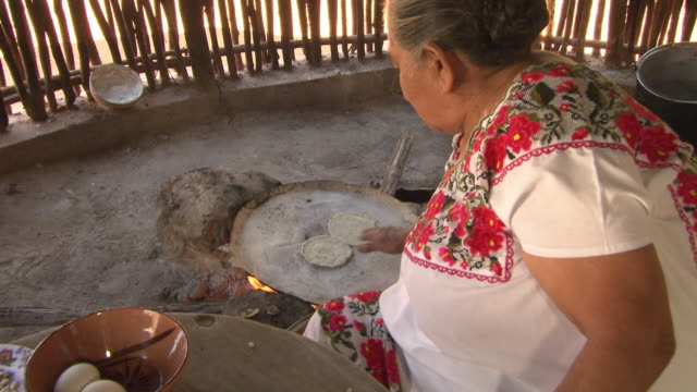 cus traditional mayan food is prepared, mexico - mayan stock videos & royalty-free footage