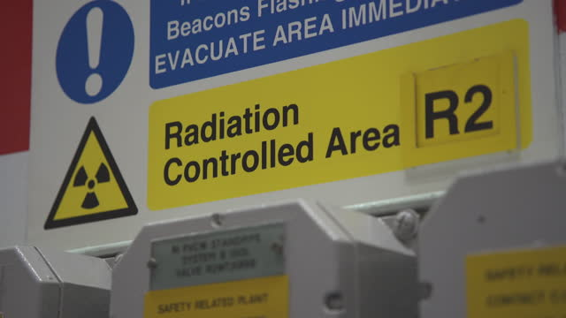 cus warning radiation and electricity signs - radiation stock videos & royalty-free footage
