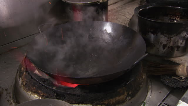 cus woks used in restaurant kitchens, shanghai - cooker stock videos and b-roll footage
