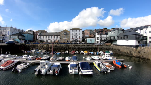 custom house quay - falmouth, england - digital enhancement stock videos & royalty-free footage