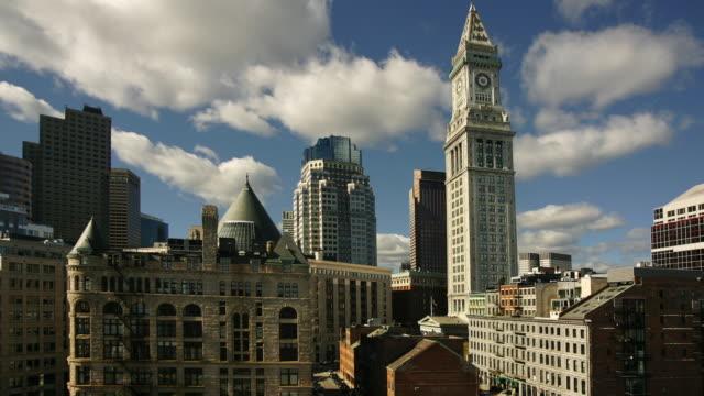 t/l ws custom house tower, boston, massachusetts, usa - custom house tower stock videos & royalty-free footage
