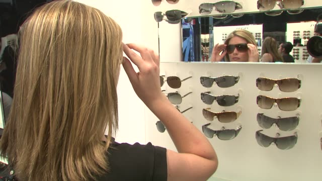 Customer at the Prada and Sunglass Hut Open the First Temporary Eyewear Concept Store at New York NY