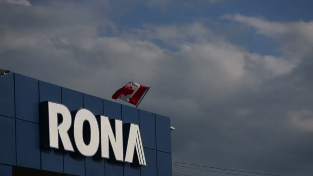 A customer exits a Rona Inc store in Toronto Ontario Canada on Wednesday Feb 3 2016 Lowe's Cos agreed to buy rival Rona for C$32 billion in cash to...