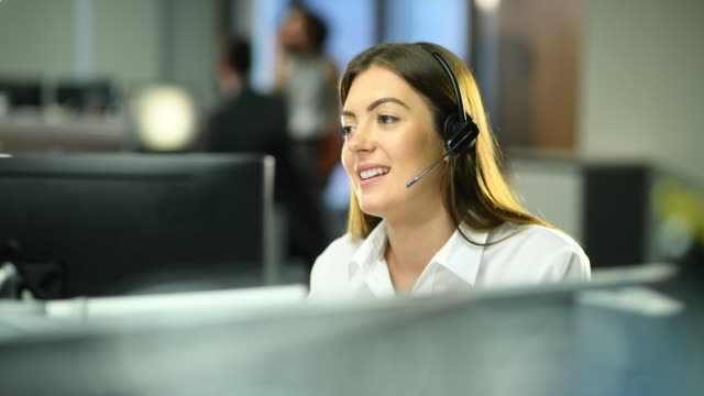 customer service representative - call centre stock videos & royalty-free footage