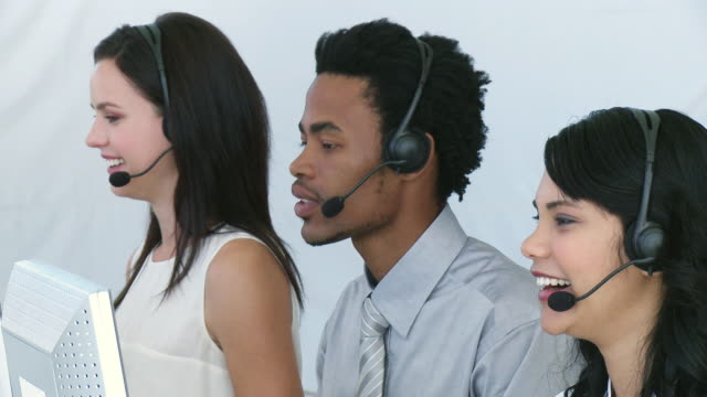 ms customer service representatives at work / cape town, south africa - see other clips from this shoot 1790 stock videos & royalty-free footage
