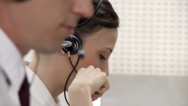 hd: customer support - headset stock videos & royalty-free footage