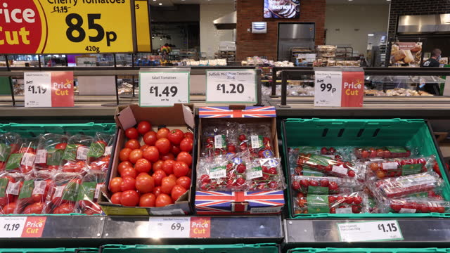 customers and employees at morrisons supermarket in st. ives, cambridgeshire, u.k., on monday, july 5, 2021. - employee stock videos & royalty-free footage
