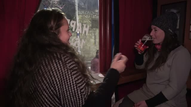 customers laugh as they drink beer at a newly reopened bar on march 07, 2021 in jerusalem, israel. following israel's immunization campaign israeli... - israel stock videos & royalty-free footage