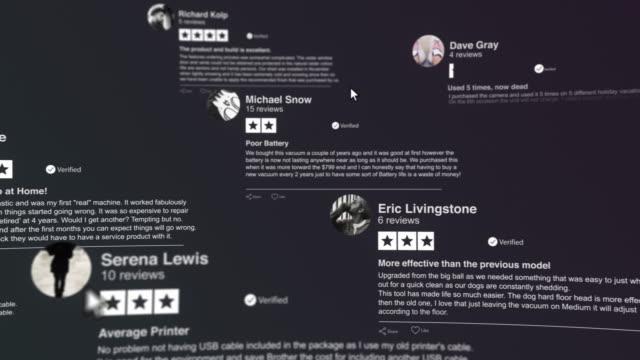 customers reviews - information medium stock videos & royalty-free footage