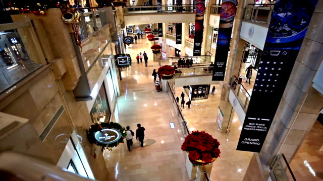 Customers shopping in the Taipei 101 building near Christmas, Taipei, China