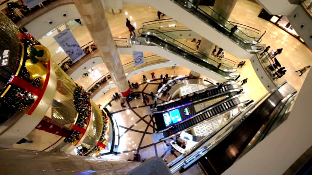 Customers shopping in the Taipei 101 building near Christmas, Taiwan, China