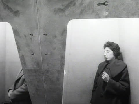 customers stand in listening booths in a record shop - booth stock videos & royalty-free footage