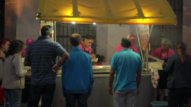 customers wait at a taco stand - taco stock videos & royalty-free footage