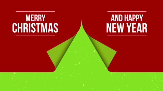 customizing greating card  - creative christmas tree - folded stock videos & royalty-free footage