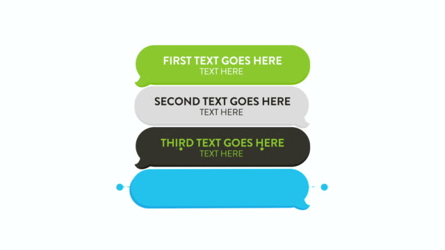 customizing promo  - bubble speech template - text messaging stock videos and b-roll footage