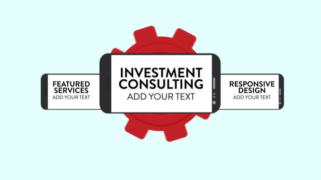 vídeos y material grabado en eventos de stock de personalizar la promoción de inversión consulta - signo de puntuación