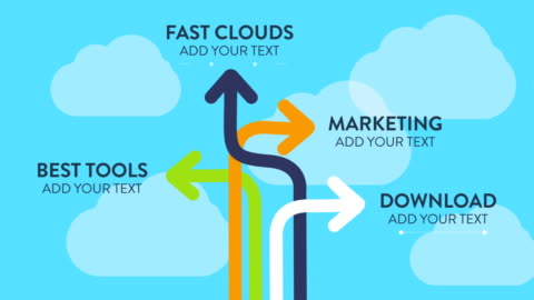 customizing promo  - strategy arrows - infographic stock videos & royalty-free footage