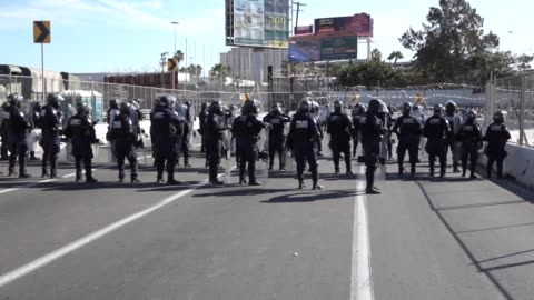 customs and border protection and department of defense personnel secure the san ysidro port of entry against attempts to illegally enter the united... - united states department of defense stock videos & royalty-free footage