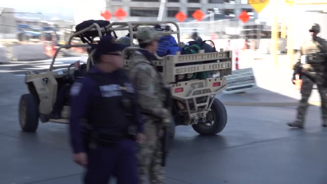 us customs and border protection and department of defense personnel secure the san ysidro port of entry against attempts to illegally enter the... - department of defense stock videos & royalty-free footage