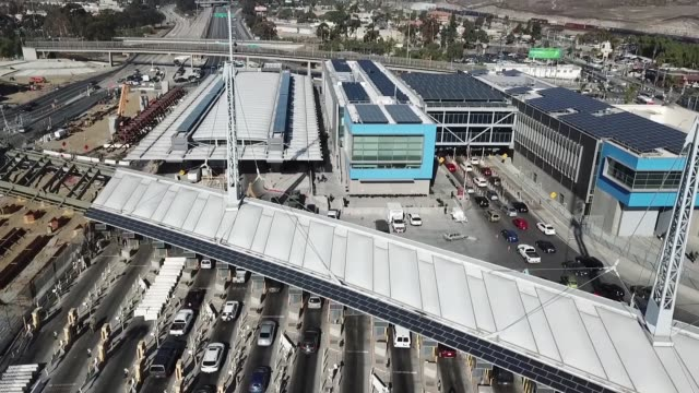 us customs and border protection and department of defense personnel secure the san ysidro port of entry against attempts to illegally enter the... - united states department of defense stock videos & royalty-free footage