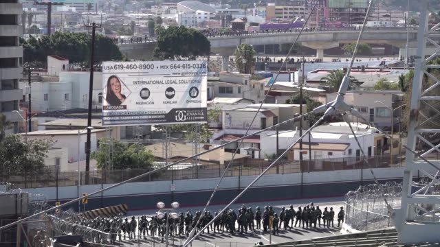 us customs and border protection and department of defense personnel secure the san ysidro port of entry against attempts to illegally enter the... - department of defense stock videos and b-roll footage