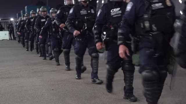 customs and border protection conducted a large-scale operational readiness exercise at otay mesa port of entry, california. the u.s. military are... - national border stock videos & royalty-free footage