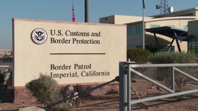 ws pan us customs & border protection building - customs stock videos & royalty-free footage