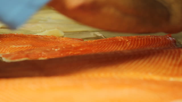 cut of salmon - seafood stock videos & royalty-free footage