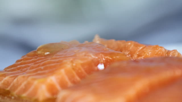 cut of salmon - eating utensil stock videos and b-roll footage