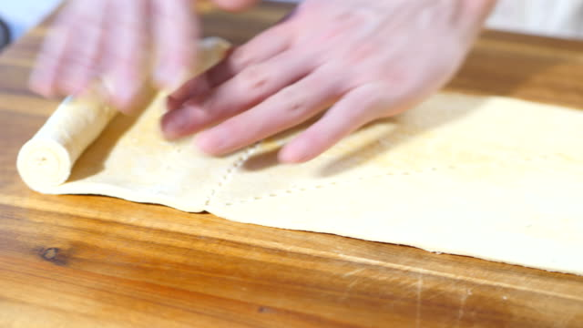 cut pastry for making crossiant