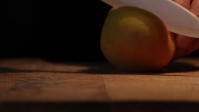 cut the apricot fruit detail - apricot stock videos & royalty-free footage