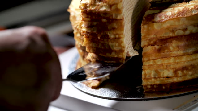 cut the cake - crepe stock videos & royalty-free footage