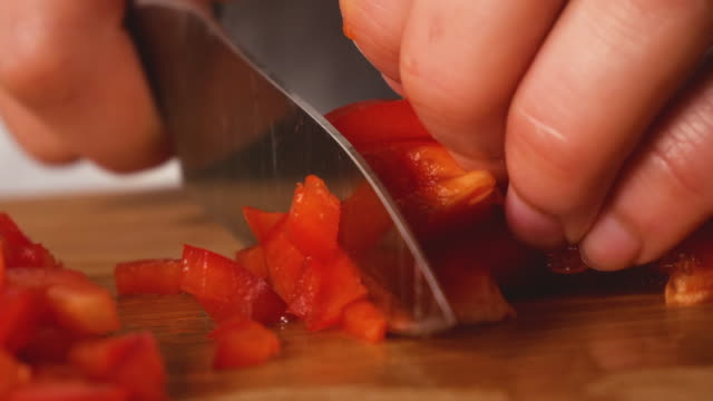 cut the paprika. - juicy stock videos & royalty-free footage