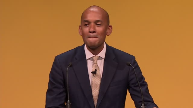cutaways of chuka umunna at the liberal democrats conference on 16 september 2019 in bournemouth, united kingdom. - british liberal democratic party stock videos & royalty-free footage